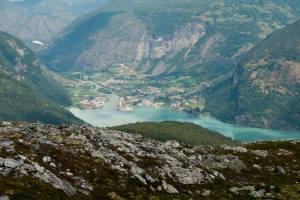 Noorwegen groene stroom in dal